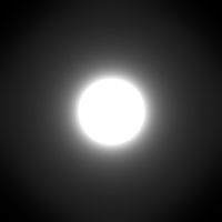 visible Airy disk w/seeing